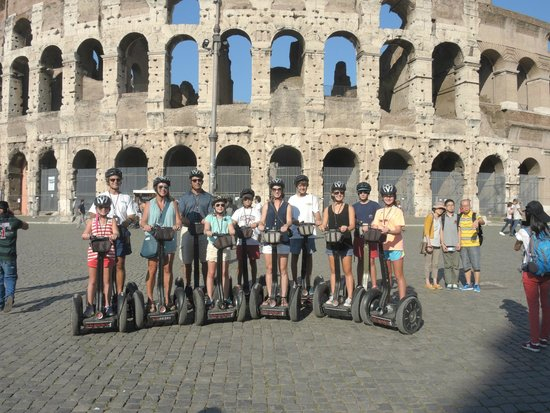 Italy Segway Tours: In front of the Roman Colosseum