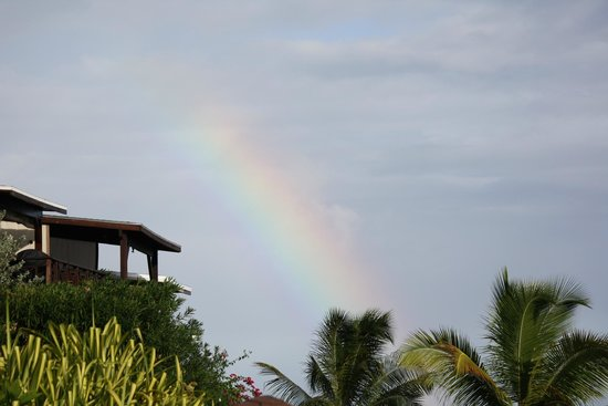 Les Balcons d'Oyster Pond: Rainbow over the island