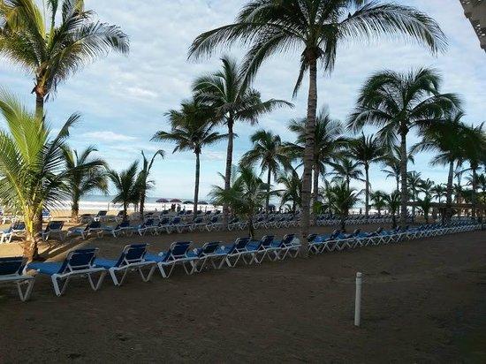 Hotel Riu Emerald Bay: camastros desde albercas