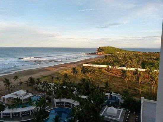 Hotel Riu Emerald Bay: la playa desde la habitacion