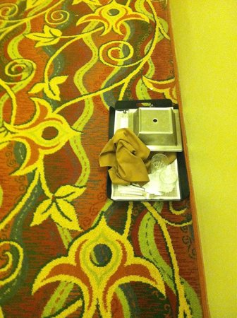 DoubleTree by Hilton - Washington DC - Crystal City: The tray of food that lived on the 12th floor for an entire stay 8/15-8/16/14 ... Yuck!