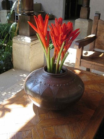 The San Rafael Hotel: Tropical floral arrangement in patio 1