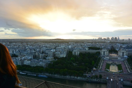 Fat Tire Tours Paris: Sunset from the Eiffel Tower