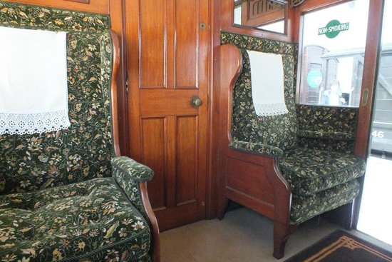 Isle of Wight Steam Railway: 1st Class really was 1st class years ago
