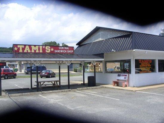 Tami's Central Sandwich shop : street veiw of building