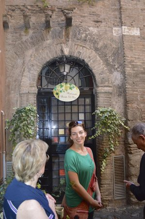 Eating Italy Food Tours: Wine cellar with Francesca.