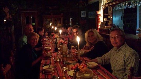 La Casa del Mundo Hotel : Prepare to meet some lovely new friends at dinner!