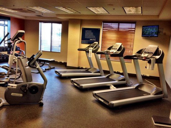 Hampton Inn & Suites Casper: Fitness room at the Hampton Inn and suites Casper Wyoming. Photo by Terry Hunefeld.
