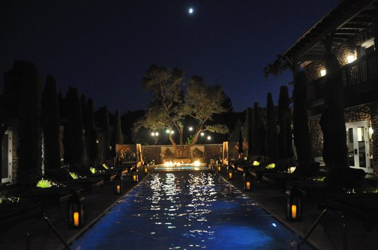 Hotel Yountville: Pool at night - gorgeous