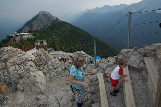 Banff Gondola: almost to the top (off of the nice wood walkway)