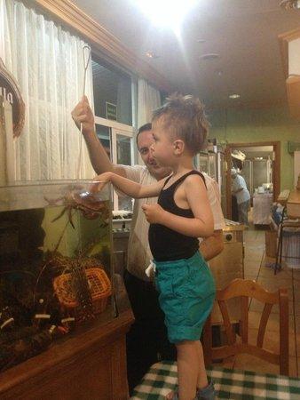 Rias Gallegas: Min sønn var så heldig å få ta på krabben.