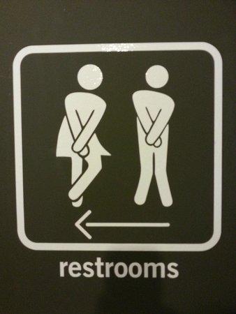 pentahotel Prague: Lobby Washroom Signage