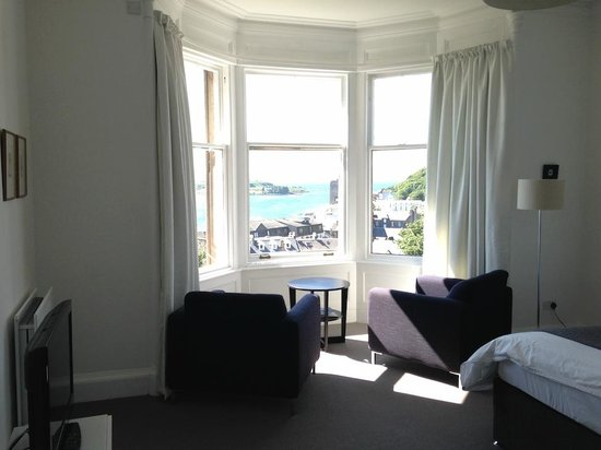 Greystones: Room 5 - view through windows into Oban Bay
