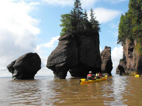 Baymount Outdoor Adventures: kayaking the rocks