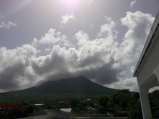 Philsha's Guest House: View of Nevis Peak from top (3rd) floor.