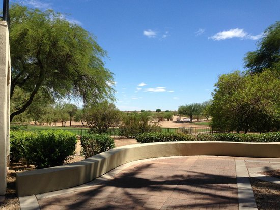 Fairmont Scottsdale Princess: view from the casitas courtyard