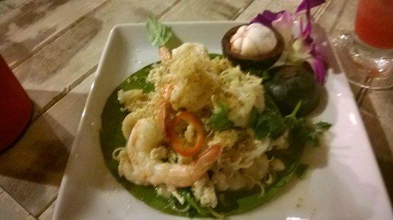 Beachlounge - Thong Sala : salade de mangoustan et crevette