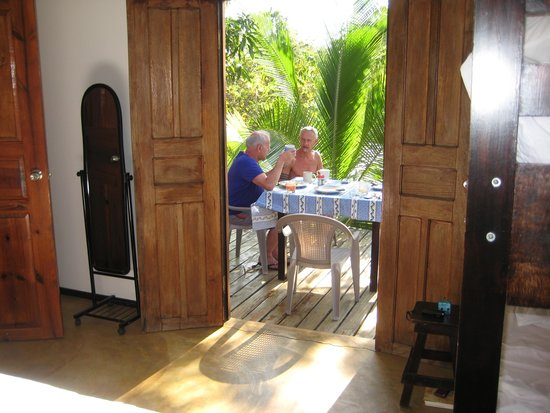 Casa Maya: view from the master bedroom to the terrace..