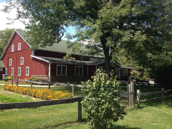 Hickory Bridge Farm: Outside of barn; garden area