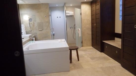 Hotel Barcelo Maya Beach : beautiful suite : double sinks walk in shower