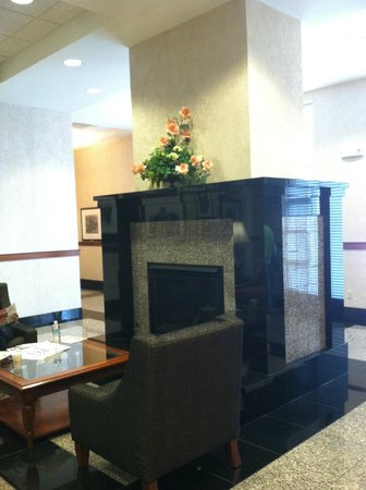 Drury Inn & Suites Columbus Grove City: Fireplace in lobby