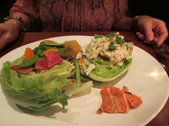 Seasons 52: crabmeat on wedge