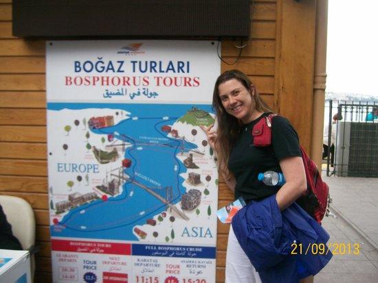 Bosphorus Cruise Day Trips: início do cruzeiro..