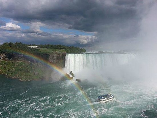 Niagara Falls: Falls with a rainbow