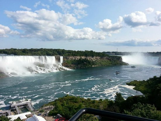 Niagara Falls: View of the falls on the US and Canadian side