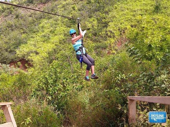 Skyline Eco-Adventures Zipline Tours: Zipping on the 3rd line