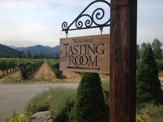 Wine Hopper Tours: Troon Winery entrance - the best of the day!