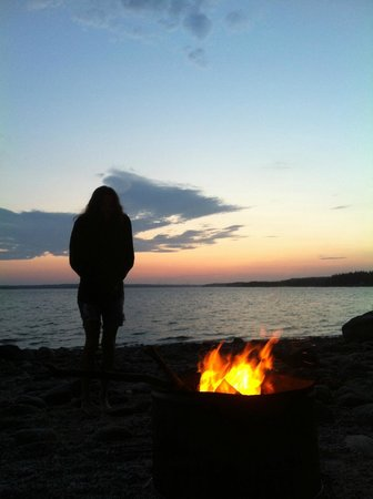 Oceanfront Camping at Reach Knolls: sunset