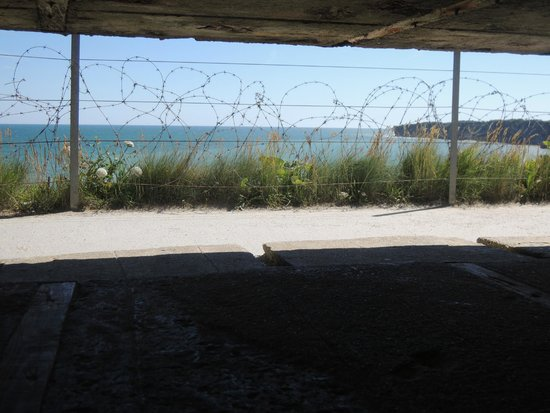 OverlordTour : View from inside German gun battery at Pointe du Hoc