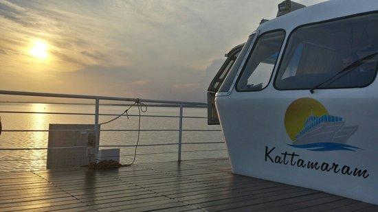 Foz do Iguacu, PR: Kattamaram ao por do sol.