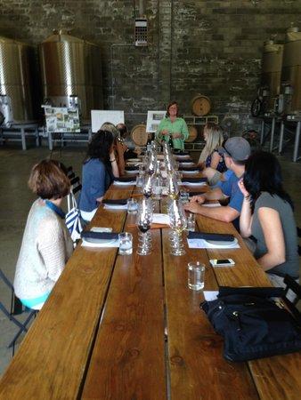 St Clair Brown Winery: Wine tasting