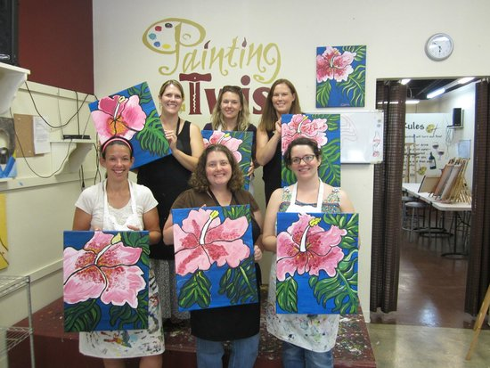 our group with our paintings picture of painting with a twist sarasota tripadvisor. Black Bedroom Furniture Sets. Home Design Ideas