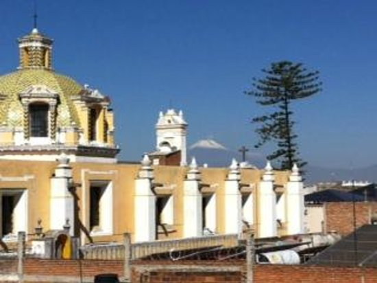 "El Sueño Hotel & Spa: View of the ""Popocatepl Volacano"" from the roof top terrace"