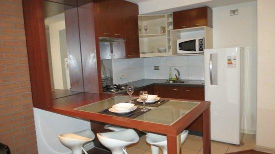Apart Urbano Bellas Artes : cozinha