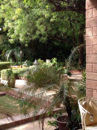 Devi Bhawan: Blick vom Restaurant aus