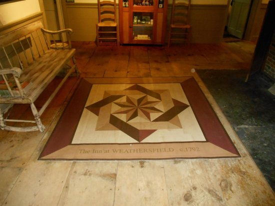 The Inn at Weathersfield : Local artist's handdpainted floor canvas