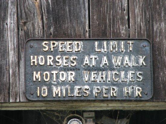 Shelburne Museum: No Speeding
