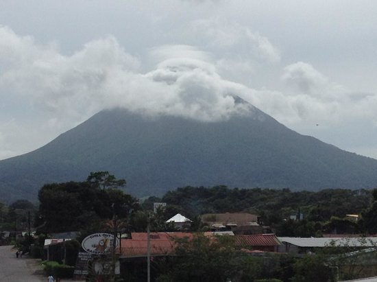 Gringo Pete's Too: view from the balcony of the Arenal Volcano
