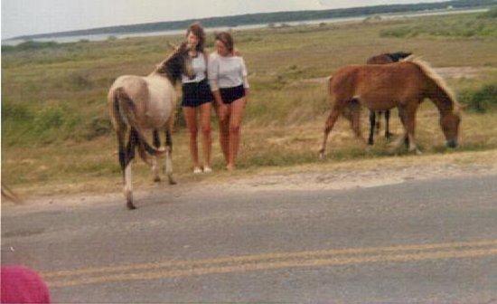 Assateague Beach : my sister and I 30 yrs ago :D