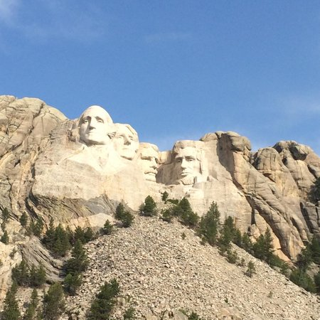Mount Rushmore National Memorial: View from inside the park