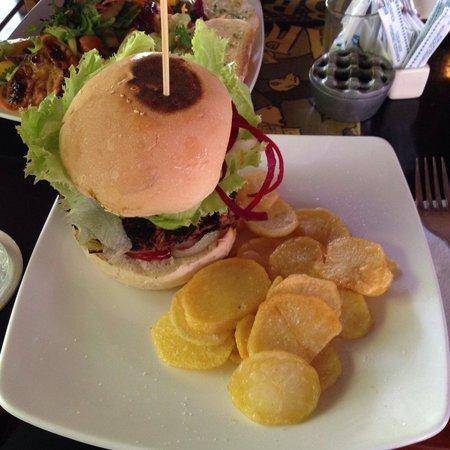The Porch Cafe: Lentil and vegetable burger