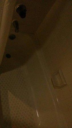 Habitat Suites Hotel: Poorly lit bathroom part 1