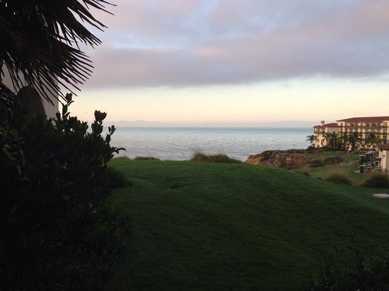 Terranea Resort : View from my casita sitting area. Mar'Sel the restaurant is at right.
