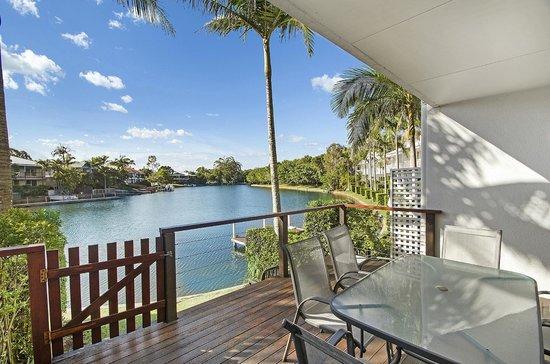 Portside Noosa Waters Resort: Townhouse Deck View