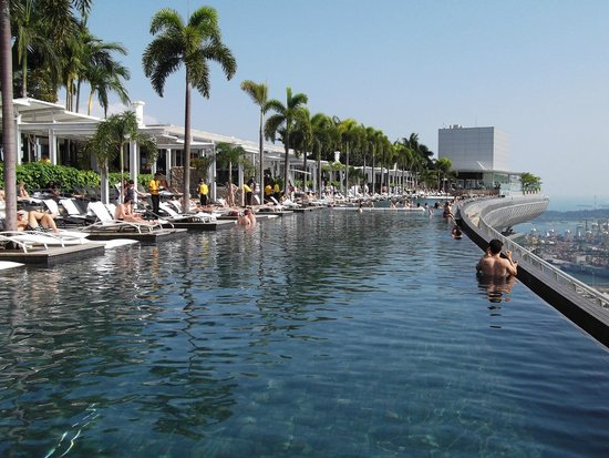 Infinity pool at mbs picture of marina bay sands singapore tripadvisor - Marina bay singapore pool ...