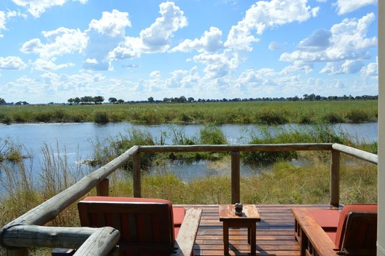 Lagoon Camp - Kwando Safaris: Your private deck looking out at the river!
